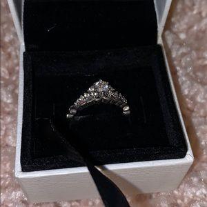Pandora princess ring with box size 7